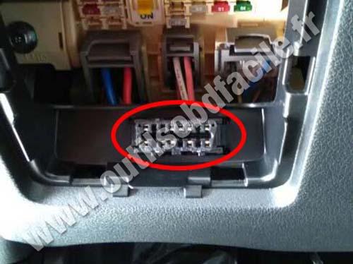 Kia Sportage - OBD socket
