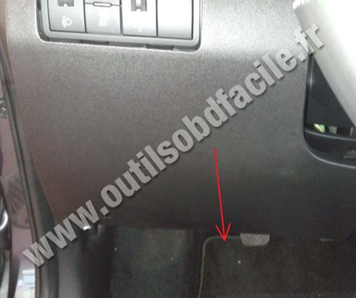 Obd2 Connector Location In Kia Venga 2010 Outils Obd Facile
