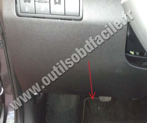 Kia Venga pedals