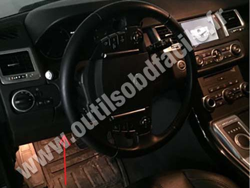 Obd2 Connector Location In Land Rover Range Rover Sport
