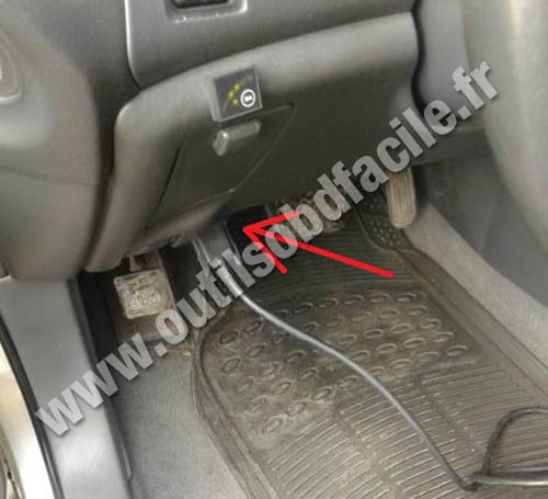 OBD2 Connector Location In Lexus RX 300 1998 2003
