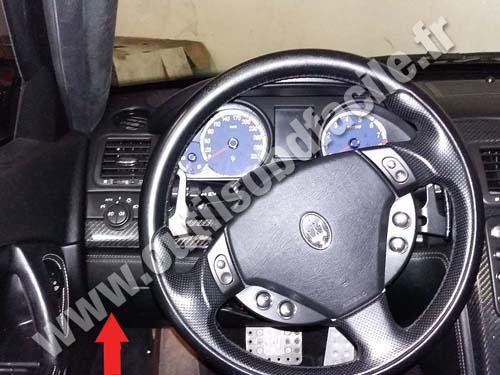 OBD2 connector location in Maserati Quattroporte (2004 ... on