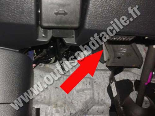 OBD2 connector location in Mazda Mazda 6 (2007 - 2012 ...