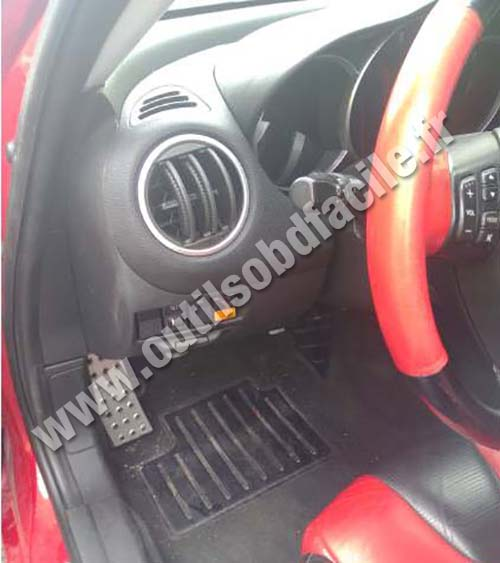 Obd2 Connector Location In Mazda Rx 8 2003 2012