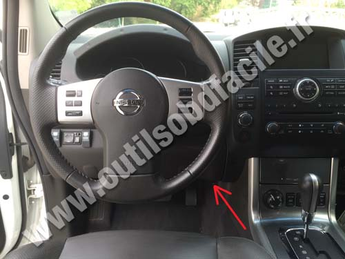 obd2 connector location in nissan navara frontier d40. Black Bedroom Furniture Sets. Home Design Ideas