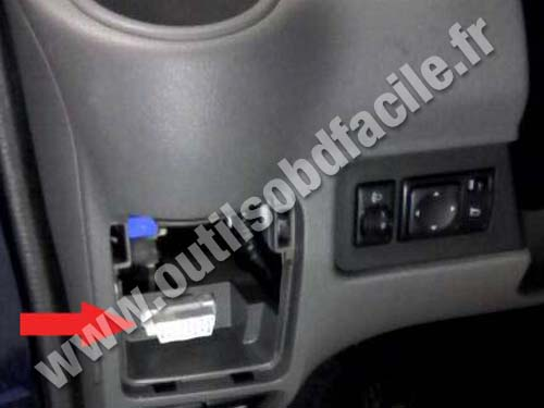 OBD2 connector location in Nissan NV200 (2009 ...