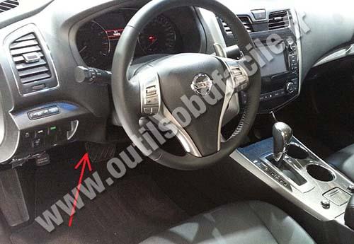 Nissan Teana dashboard
