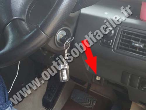 OBD2 connector location in Nissan X-Trail (2001 - 2007 ...