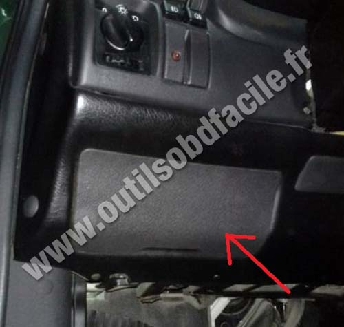 Obd connector location in opel astra f
