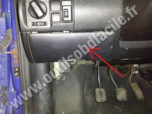 obd2 connector location in opel corsa b 1993 2000 outils obd facile