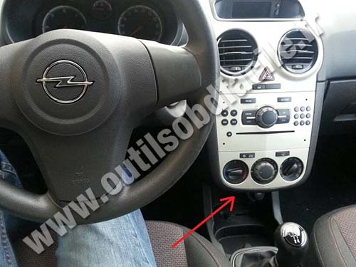 Obd2 Connector Location In Opel Corsa D 2006 2014