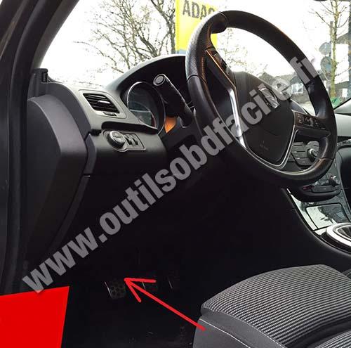 Obd2 Connector Location In Opel Insignia 2008 2013