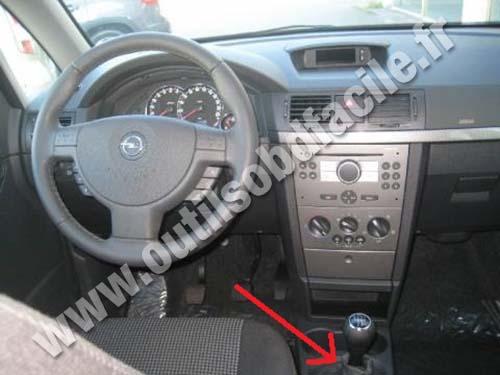 Opel Meriva dashboard