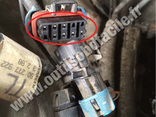Opel Senator - Diagnostic connector
