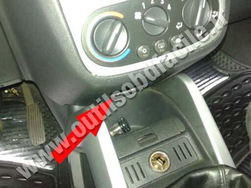 Opel Tigra Central console