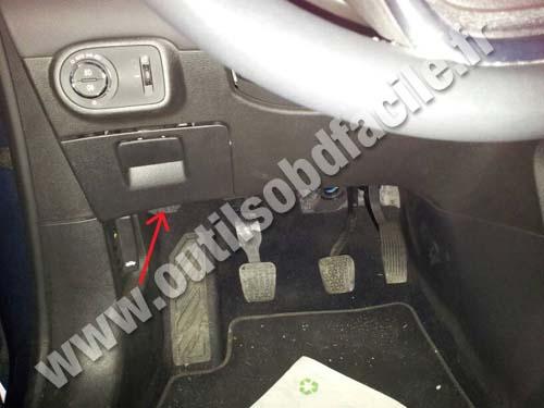 Opel Zafira C pedals