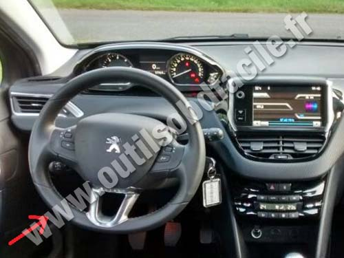 OBD2 connector location in Peugeot 2008 (2013 - ) - Outils ...
