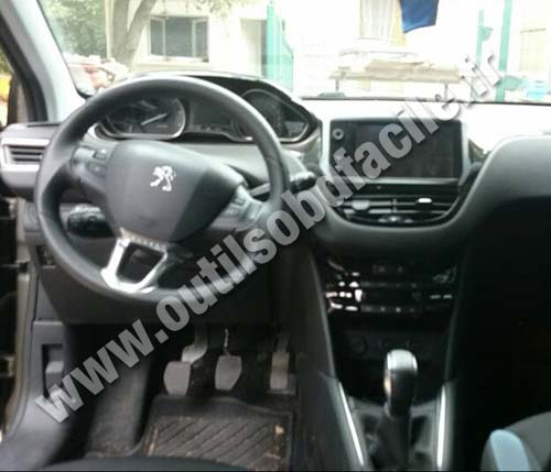 OBD2 connector location in Peugeot 208 (2012 ...