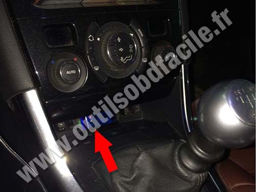 Obd2 Connector Location In Peugeot 308 Cc 2007 2011