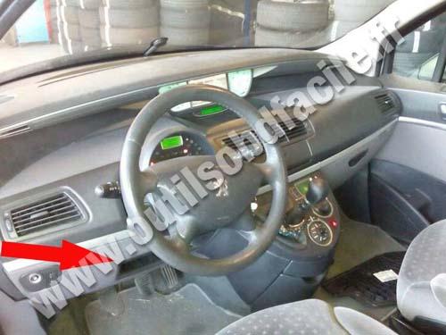 Peugeot 807 Dashboard