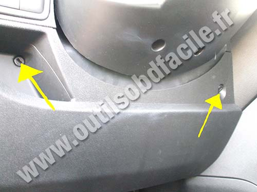 obd2 connector location in peugeot bipper  2007