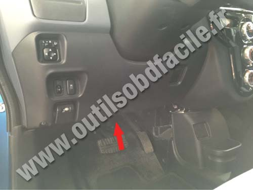 OBD2 connector location in Peugeot Ion (2010 ...