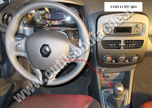 OBD2 connector location in Renault Clio 4 (2012 ...