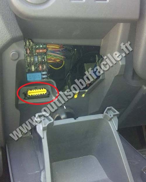 Renault Lodgy OBD2 port