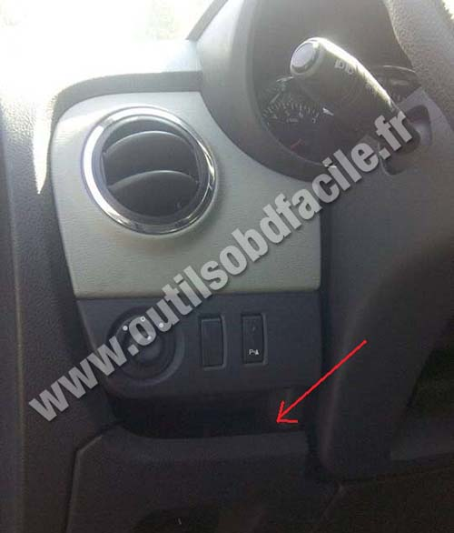 obd2 connector location in renault lodgy  2012