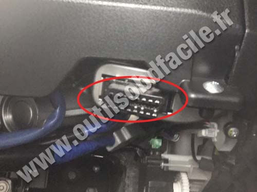 Scion Tc Engine >> OBD2 connector location in Scion Scion FR-S (2013 - 2016) - Outils OBD Facile