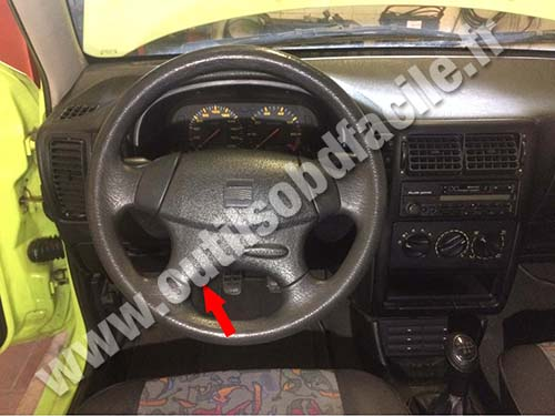 Obd2 Connector Location In Seat Ibiza 1993 2002 Outils