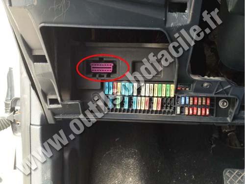 Obd connector location in seat ibiza