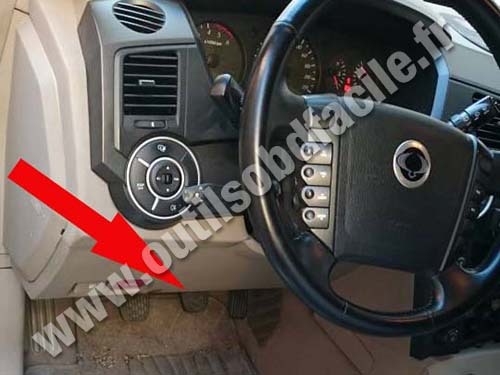 Obd2 Connector Location In Ssangyong Kyron 2005