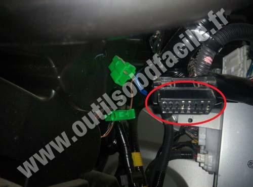Subaru Sambar OBD socket