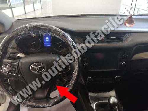 OBD2 connector location in Toyota Avensis (2009 - 2018