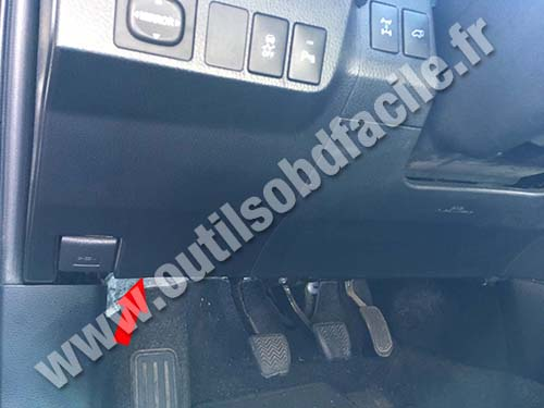 Obd2 Connector Location In Toyota Rav 4 2013 2018