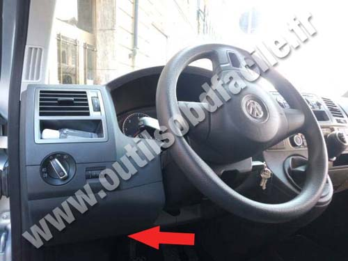 obd connector location  volkswagen caravelle  outils obd facile