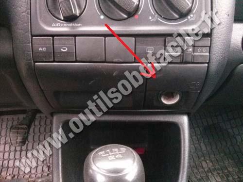 OBD2 connector location in Volkswagen Golf III (1991 ...