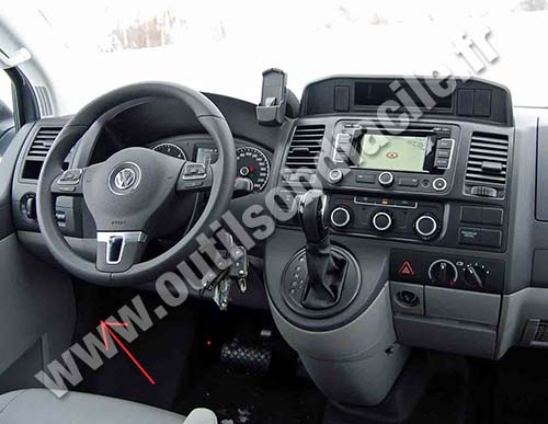Obd connector location in volkswagen transporter t