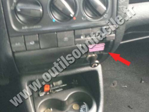 Obd2 Connector Location In Volkswagen Vento 1996 1998